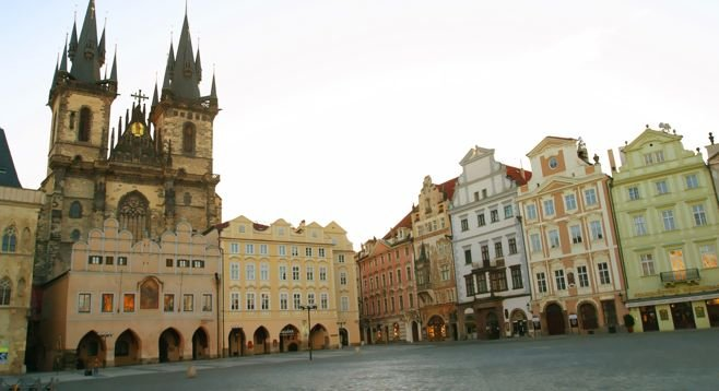 Prague's preserved Old Town Square dates to the 12th century.