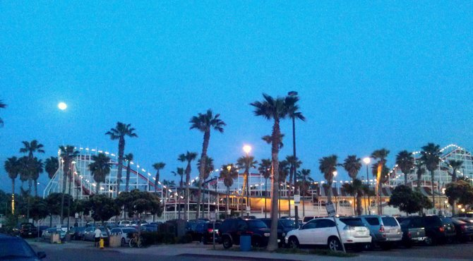 'Evening by the boardwalk in Pacific Beach'