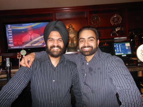 Jappreet, the manager, with Surinder the chef