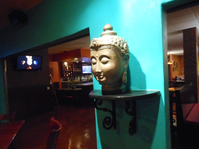 Looking through to the Buddha Bar