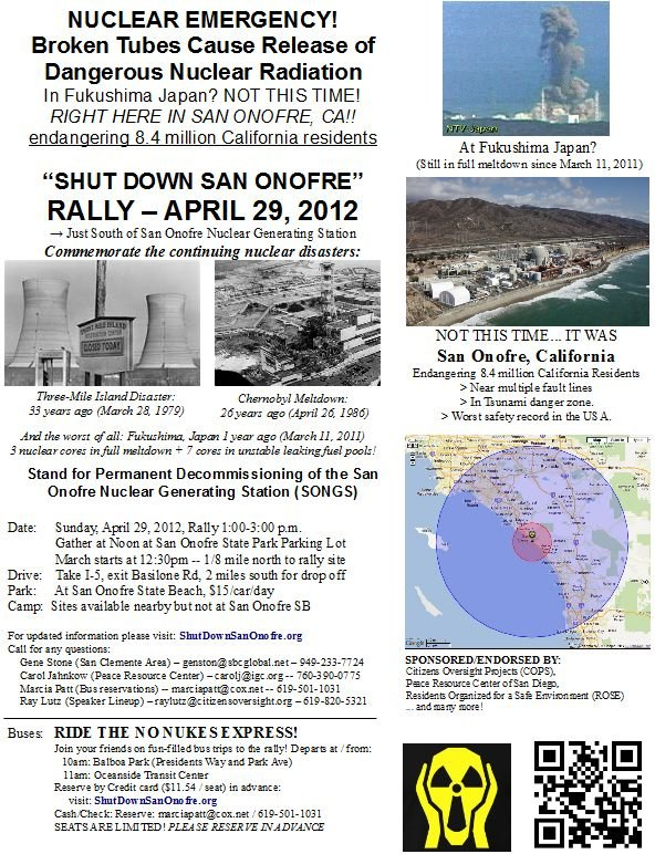 Rally to Close San Onofre 4/28/12