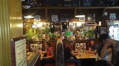 Inside the Antique Row Cafe
