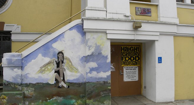 One of many murals in San Francisco's Haight-Ashbury neighborhood.