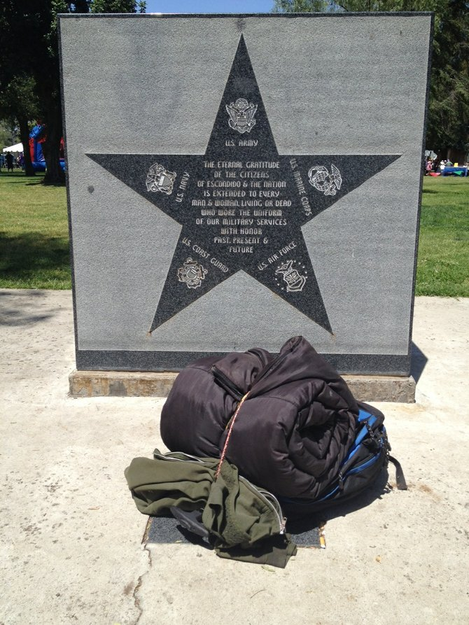 Grape Day Park Juxtaposition: Military star of gratitude. Photo 3 of 3