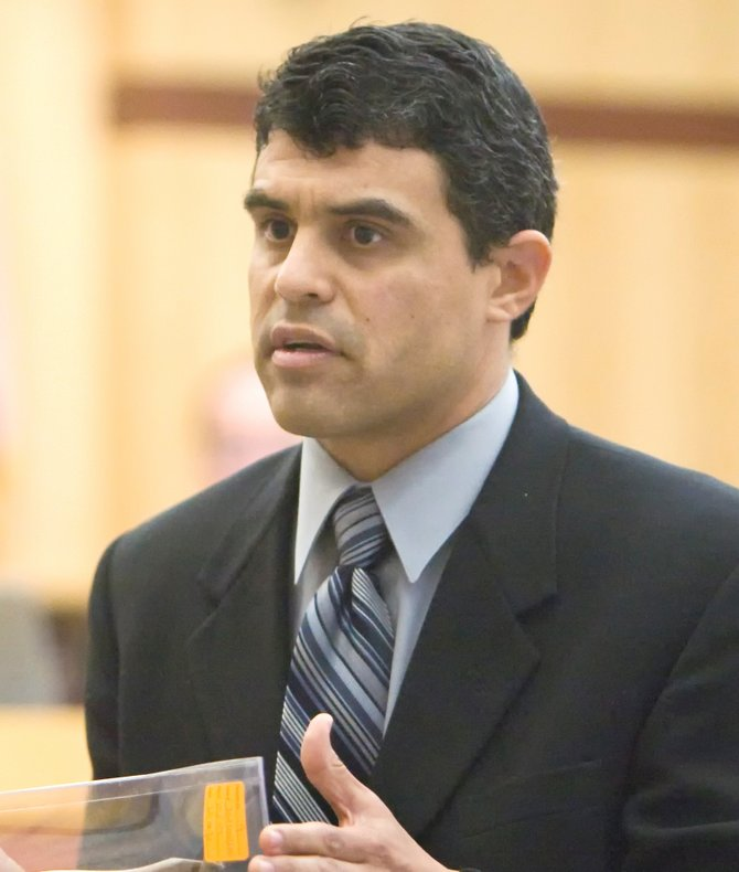 Prosecutor Pat Espinoza got a guilty verdict a year ago, then sentencing a year after that. PHOTO NICK MORRIS.