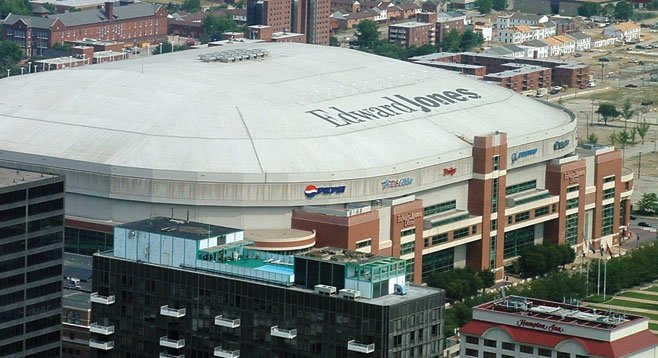 Edward Jones domed stadium in St. Louis