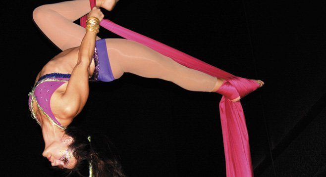 Cirque Arts of Studio Revolution has classes for beginners and experts.