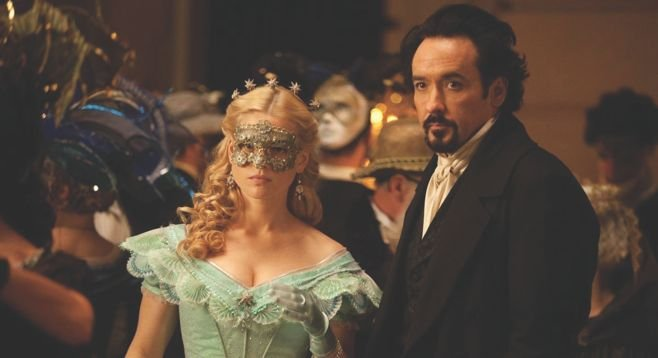Edgar Allan Poe (John Cusack) tracks a serial killer in 19th-century Boston in The Raven