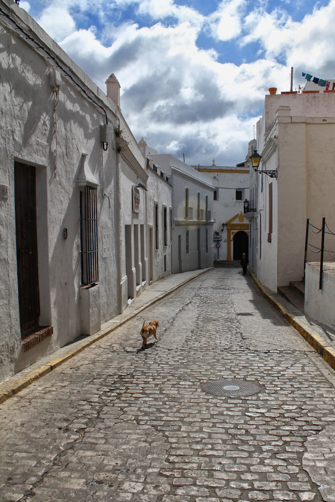 Vejer De La Frontera, Andalucia Spain.    One in the myriad of winding backstreets.