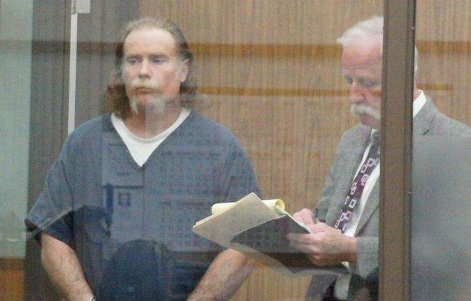 Thompson and defense attorney J. Judge Jr.  Photo Bob Weatherston