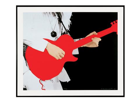 Person with Guitar (Red)