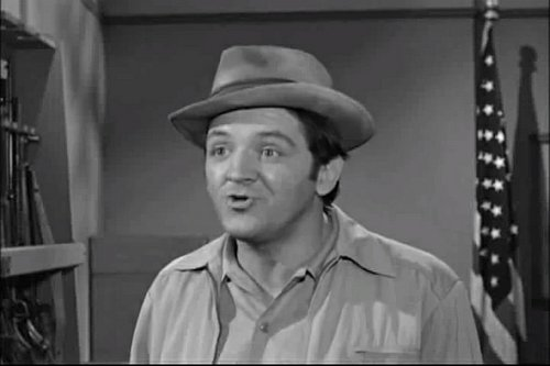 "Before the beanie: Goober ""takes off"" on Cary Grant in the episode ""Fun Girls,"" his first appearance on ""The Andy Griffith Show."""