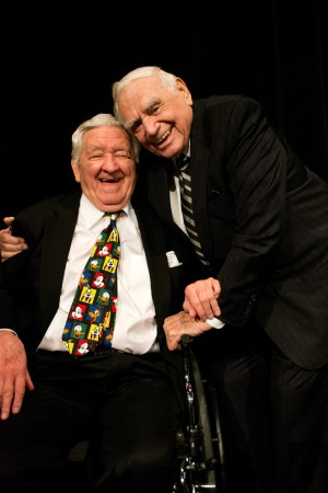 With Ernest Borgnine earlier this year attending the dedication of the George S. Lindsey Black Box Theater and the Ernest Borgnine Performance Hall at the University of North Alabama.