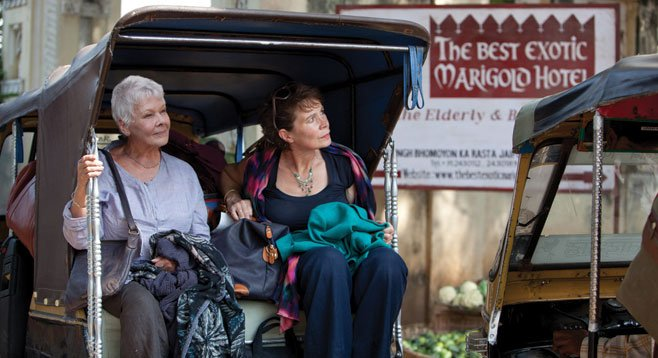 The Best Exotic Marigold Hotel houses seven stately Brits who mostly like each other, and we easily like them.