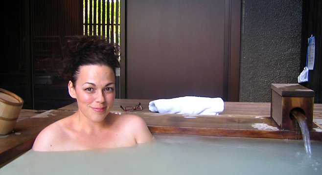 Me at a spa in Japan