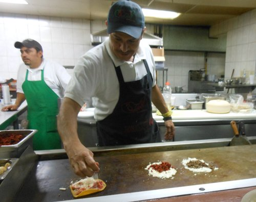 Francisco at the hot plate