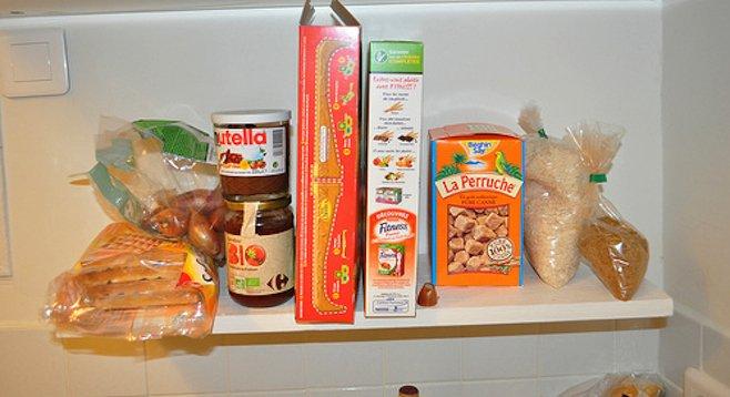 Your standard kitchen shelf space.