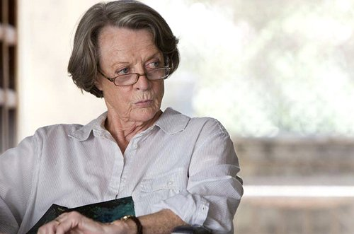"Muriel Donnelly (Maggie Smith) finds a home at ""The Best Exotic Marigold Hotel."""