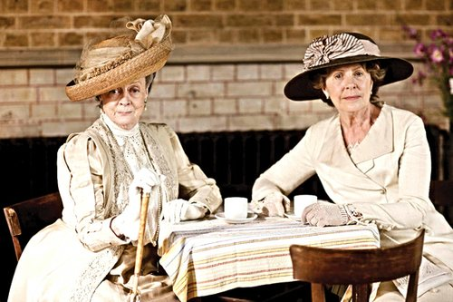 "Maggie Smith (left) and Penelope Wilton in ""Downton Abbey."""