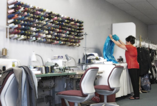 A tailor shop in Rancho Penasquitos is keeping busy on dresses for Prom season.
