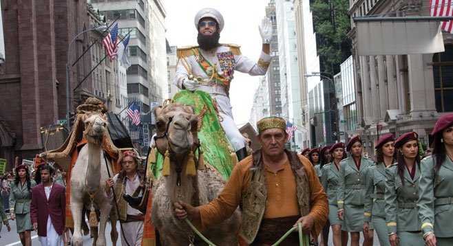 In The Dictator, Sasha Baron Cohen has no real interest in the atrocities he is mocking.
