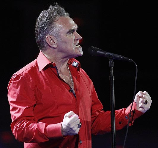 Alt-pop icon Morrissey takes the stage at the Valley View Casino Center Tuesday night.