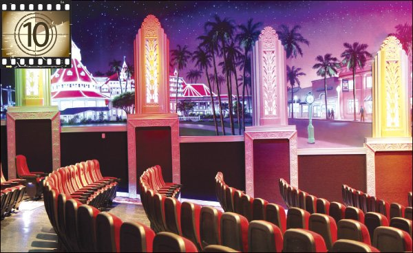Last year's $3 million restoration of Coronado's Vintage Cinemas Village Theatre features illuminated murals and an art deco lobby.