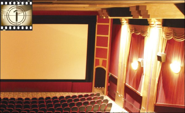 Lush, red-velvet curtains act as a nostalgic reminder of what once was at the #1 house of Reading Cinemas Gaslamp.