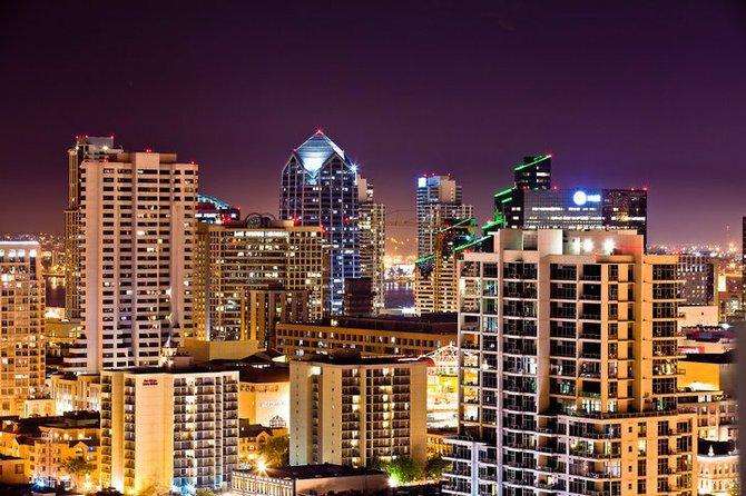 San Diego from building skyline