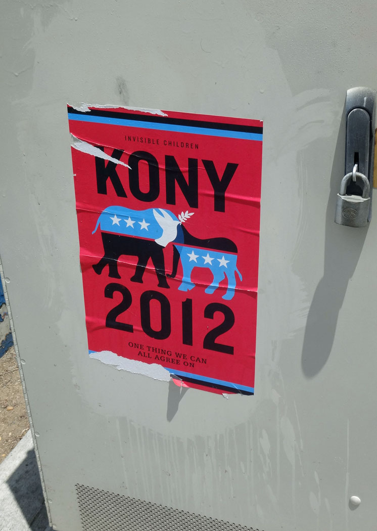 "More ""KONY 2012"" graffiti!"