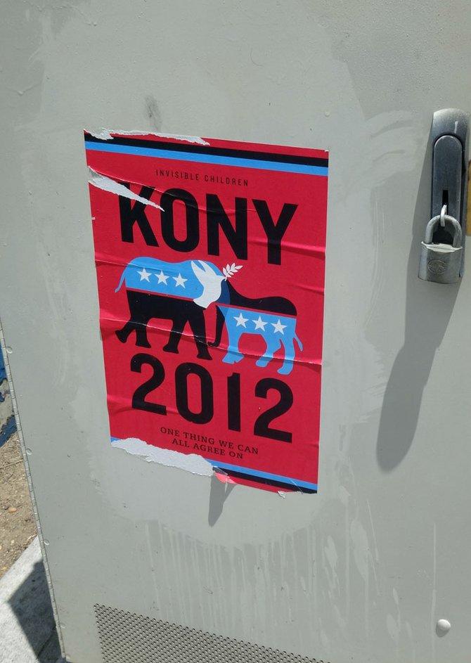 "More ""KONY 2012"" graffiti!"