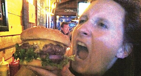 Half-pound cheeseburger, $6.25, at Rocky's Crown Pub in Pacific Beach