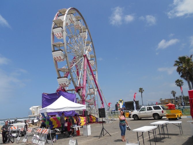 More ferris wheel action for O.B.Beach Ball.