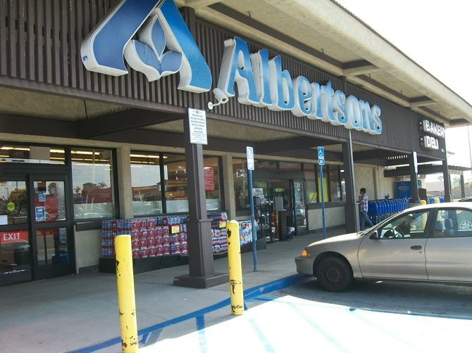 The Albertsons Grocery Store in the 1800 block of Coronado Avenue South San Diego.