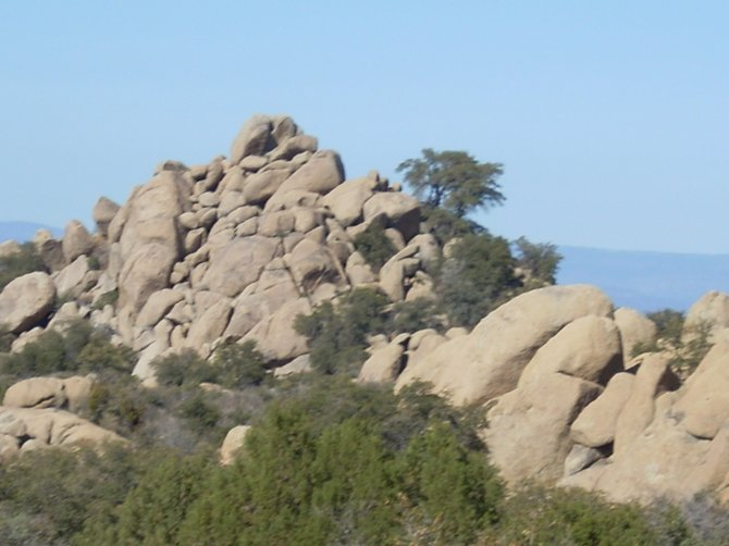 Rock outcroppings South of Prescott, Arizona.
