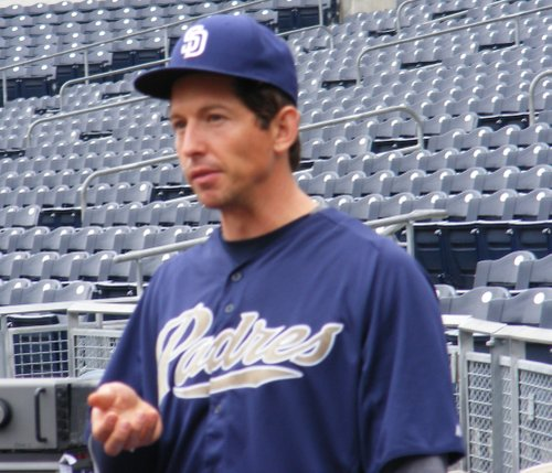 Padres back-up catcher John Baker