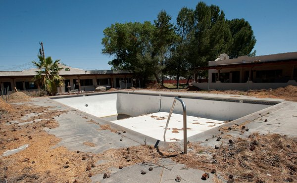 This pool and two others stand empty while the Jacumba Hot Springs Resort is under renovation.