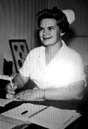 Nathan Fletcher's maternal grandmother,  Mrs. John Morgan, in 1967. She was director of health services at Riverside's California Baptist College, a school  that Nathan later attended.