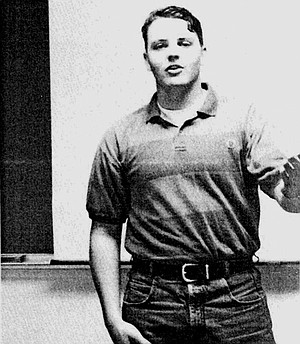 Nathan Fletcher on the Forensics team as a freshman  (1996) at California Baptist College