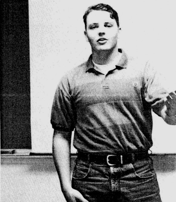 Nathan Fletcher on the Forensics team as a freshman 