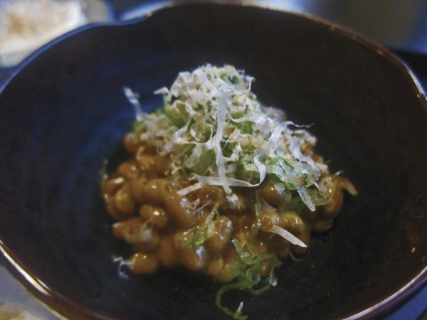 "The natto — fermented soybeans — ""really takes me home."""
