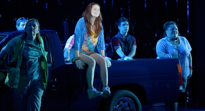 In Hands on a Hardbody, now at La Jolla Playhouse, contestants can't let go of the prize.