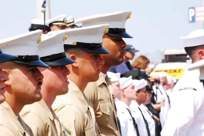 Commission Of The USS San Diego LPD 22 on 5/19/2012