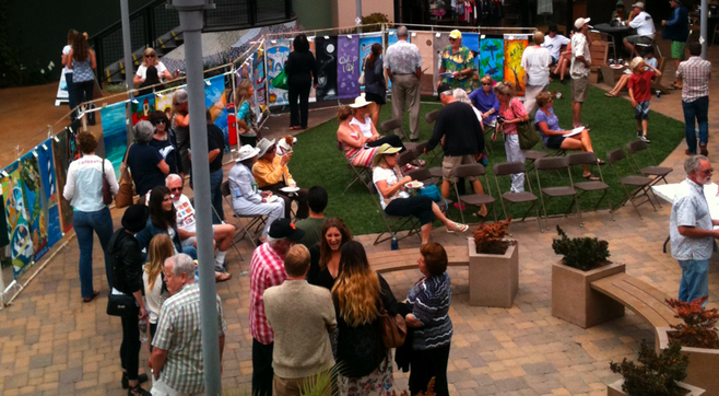 Art auction at Cardiff Town Center