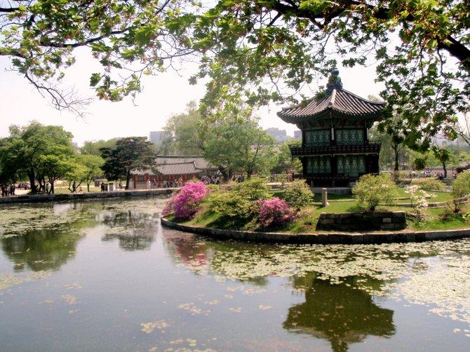 Gwanghwamun Palace, South Korea.