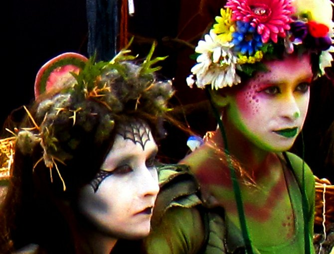 Painted Fairies at SoCal's Renaissance Pleasure Faire