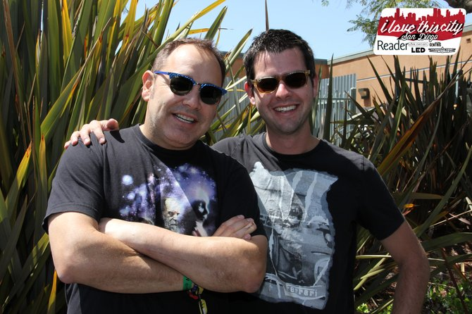 Ken of The Crystal Method with Andy Boyd (Reader Andy) who happens to be a big fan!