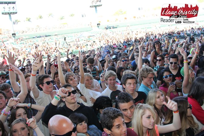 Full house at I Love This City Festival San Diego presented by LED and Livenation at Cricket.