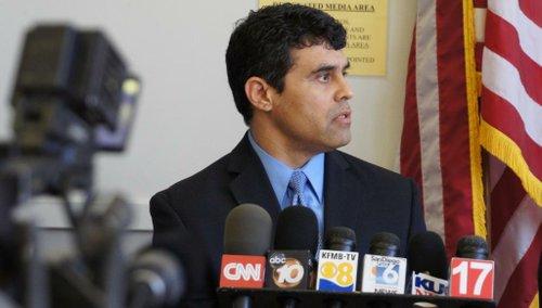 Prosecutor Patrick Espinoza wants handwriting samples. Photo Bob Weatherston