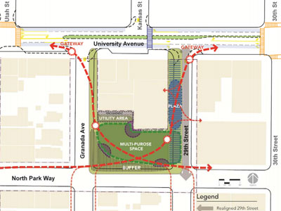 Design concept from the North Park Park and Recreation Council Meeting April 2012 report